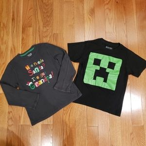 3 for $25 ❤ Lot of 2 shirts - 1 Minecraft + 1
